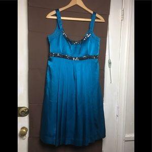 Calvin Klein Sleeveless Pleated Cocktail Dress